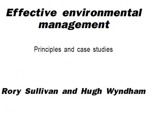 دانلود کتاب Effective environmental management