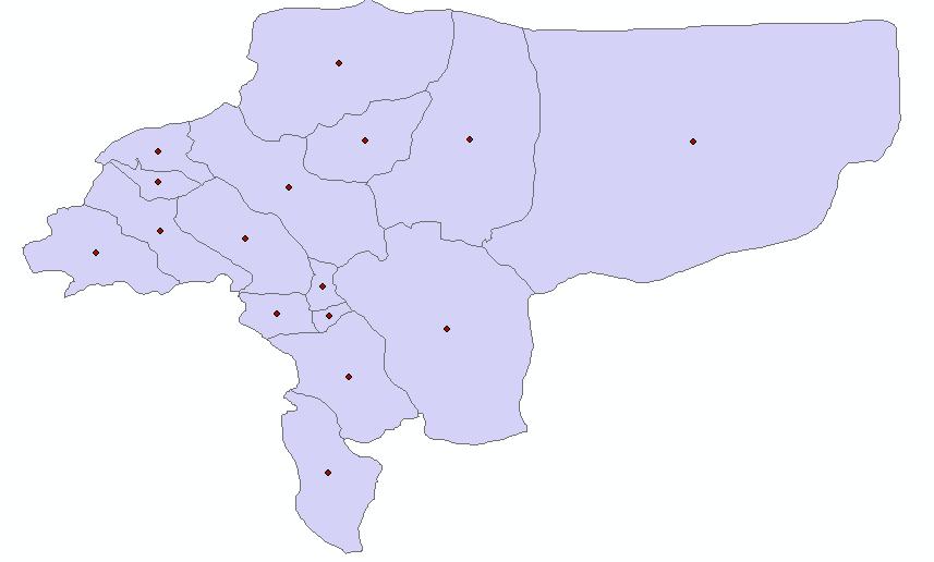 دانلود رایگان شیپ فایل مرز شهرستان های اصفهان