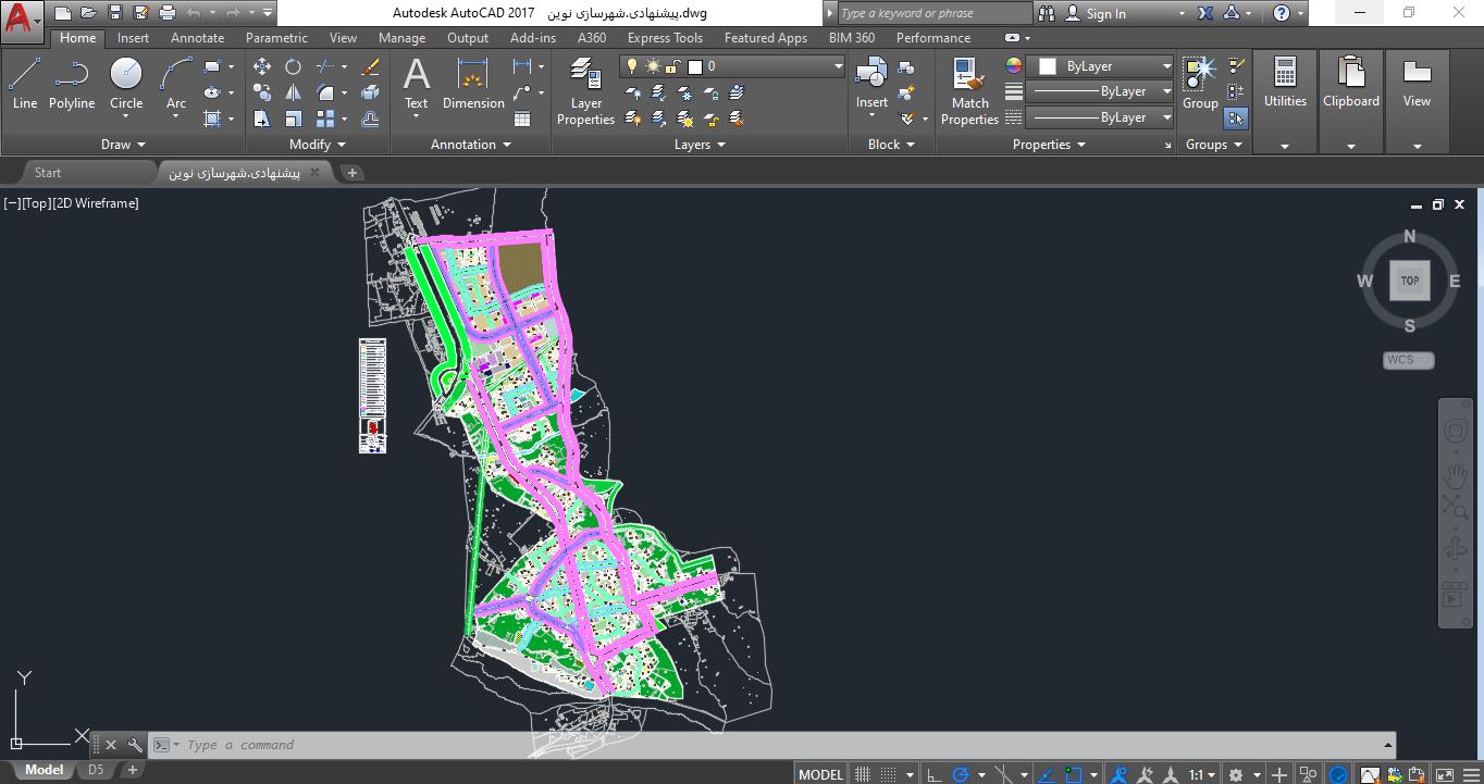 نقشه اتوکد شهر آذر شهر