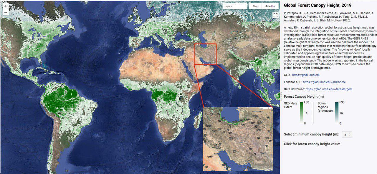 نقشه جدید پوششهای جنگلی در دنیا  با قدرت تفکیک ۳۰ متر