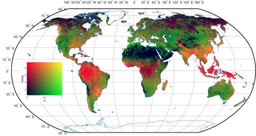 داده های بارش در مقیاس جهانی با فرمت Netcdf