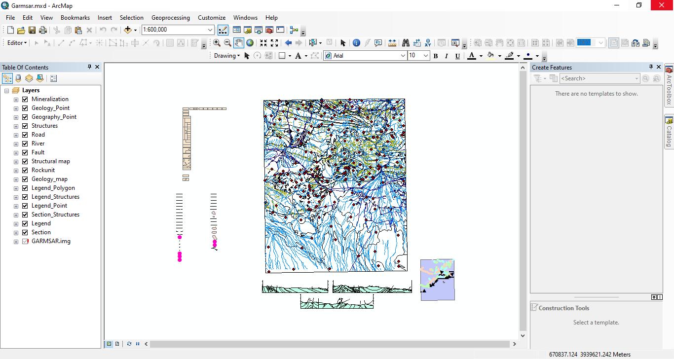 شیپ فایل زمین شناسی۱:۱۰۰۰۰۰ گرمسار