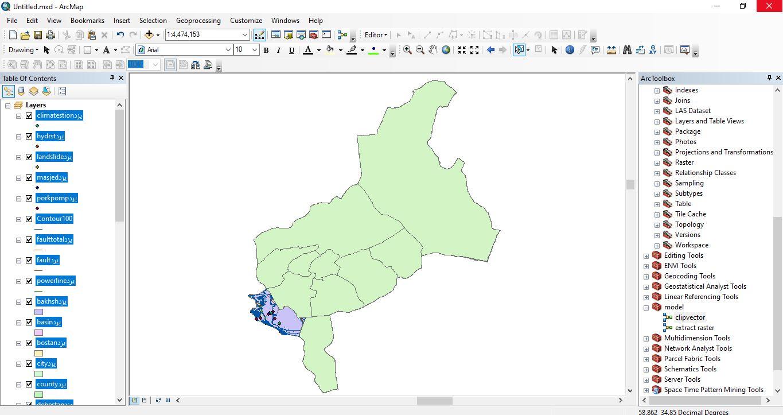 دانلود ۴۶ لایه شیپ فایل، رستری و داده های مکانی شهرستان ابرکوه