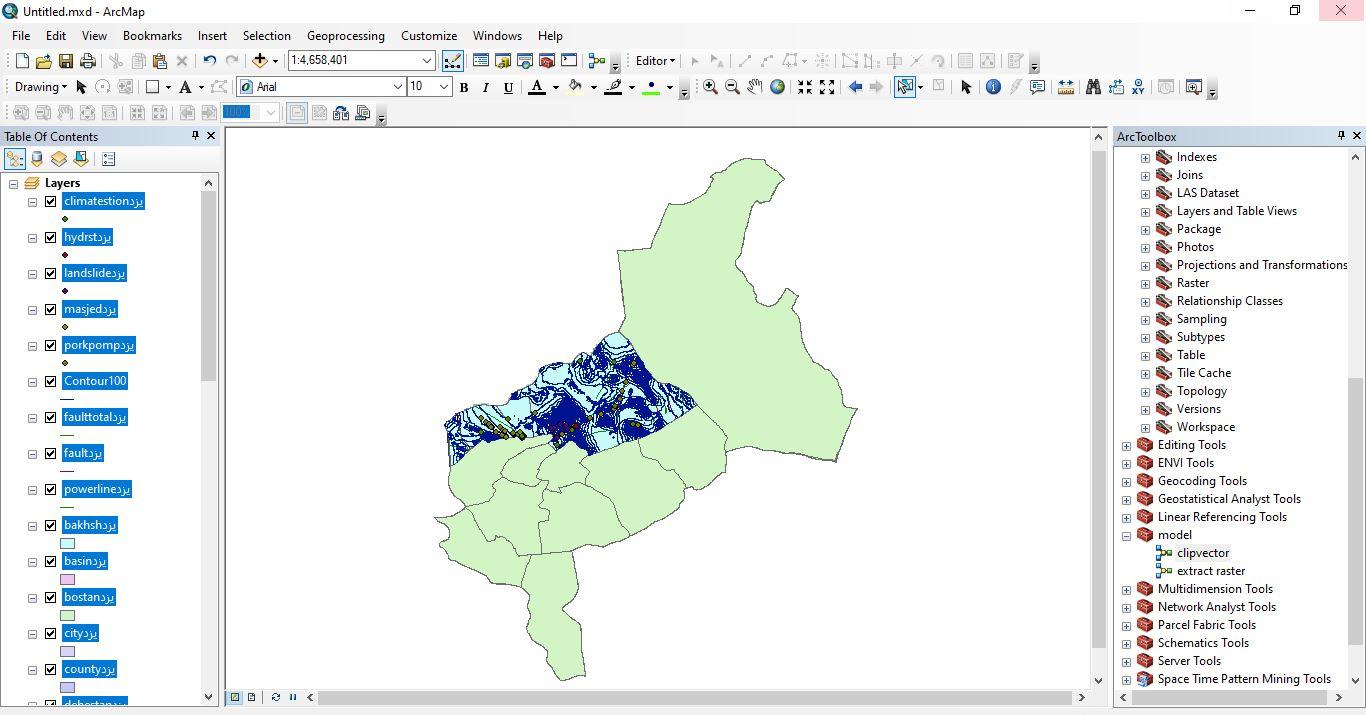 دانلود ۴۶ لایه شیپ فایل، رستری و داده های مکانی شهرستان اردکان