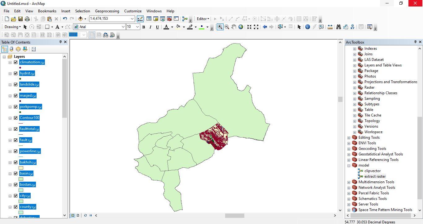 دانلود ۴۶ لایه شیپ فایل، رستری و داده های مکانی شهرستان باهاباد