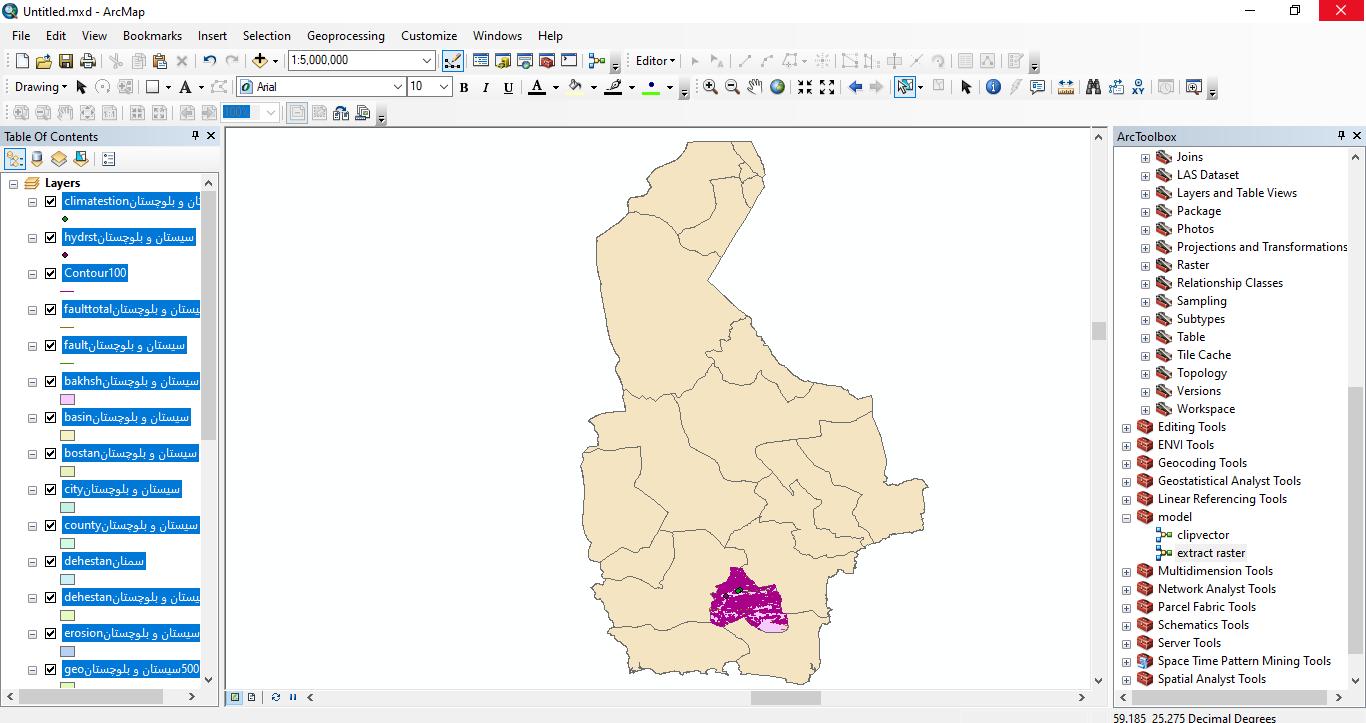 دانلود ۴۶ لایه شیپ فایل، رستری و داده های مکانی شهرستان قصرقند