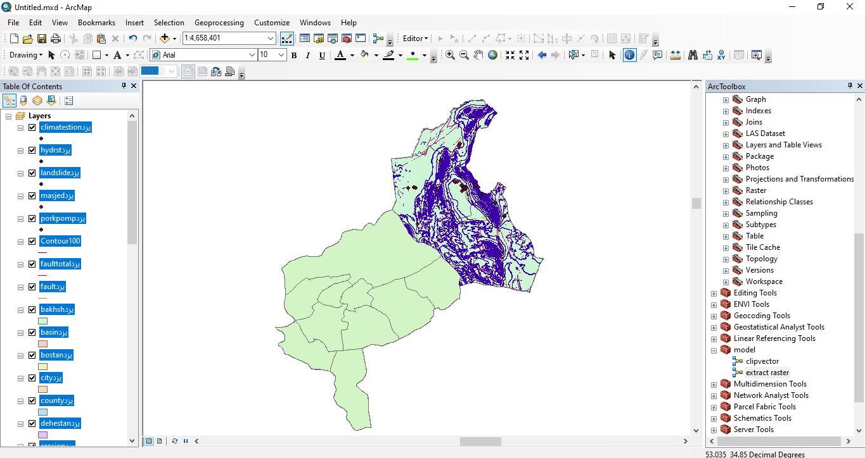 دانلود ۴۶ لایه شیپ فایل، رستری و داده های مکانی شهرستان طبس