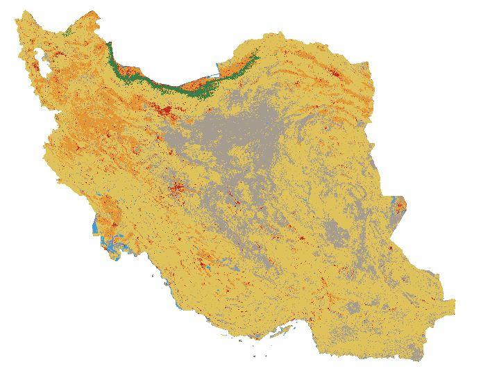 دانلود نقشه کاربری اراضی زمین با قدرت تفکیک ۱۰ متر به تفکیک استان ها تولید شده با تصاویر ماهواره ای سنتینل ۲ سال ۲۰۲۱