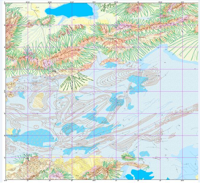 نقشه ژئومورفولوژی ترود مقیاس ۱:۵۰۰۰۰۰